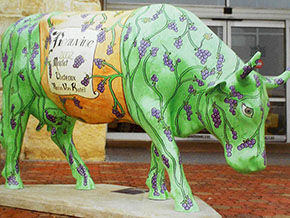 BEAUVINE- Life size cow from San Antonio leg of the Cow Parade